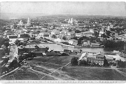 Lipetsk. Panorama of the Cathedral from bell tower