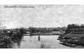 Maykop. Bridge on the river White