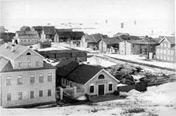 Mezen. Panorama of the city