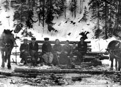 Mezhgorye. At logging