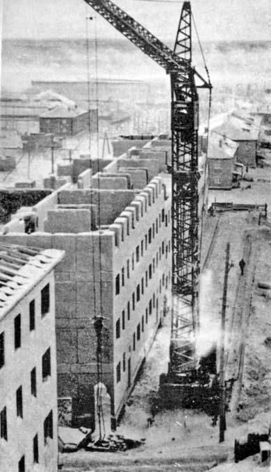 Mirny. Construction of city, 1957