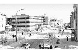 Mirny. Lenin street