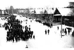 Mozhga. Town demonstration