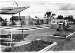 Mozhga. Public garden of the plant 'Light'