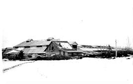 Mozhga. Construction at the plant 'Light', 1959