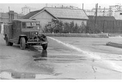 Murmansk. Watering machine