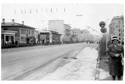 Murmansk. Prospekt Lenina, the end of the 50's