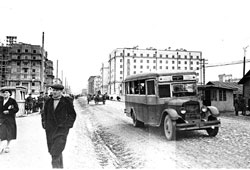 Murmansk. Stalin Avenue, 1940s