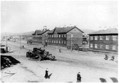 Murmansk. View of the Square 'Five Corners', 1946
