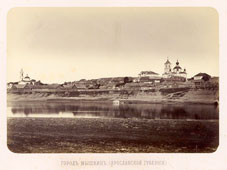 Myshkin. Panorama of the city from the river