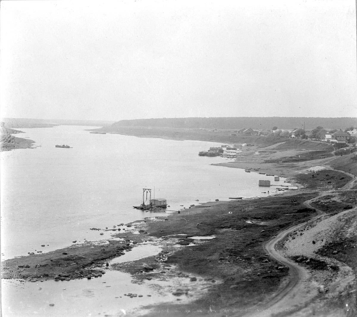 Myshkin. Panorama of the Volga River, 1910s