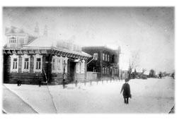 Myshkin. The corner of streets Mologskaya und Uspenskaya