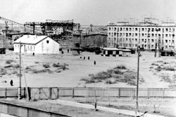 Narimanov. Panorama of the settlement Nizhnevolzhsky