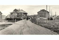 Naryan-Mar. Plant Street, 1955