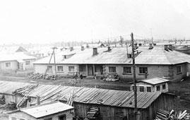 Neftekamsk. The building of leather-galanteri factory, 1971