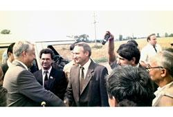 Neftekamsk. BN Yeltsin in the Krasnokamsky district