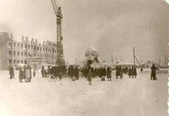 Neftekamsk. The ice hill for children's