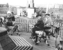 Neftekamsk. Carousel in Park 'Gulliver', 1968