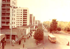 Neftekamsk. The first nine-story buildings