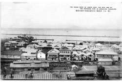 Nevelsk. Panorama of the city, 1930