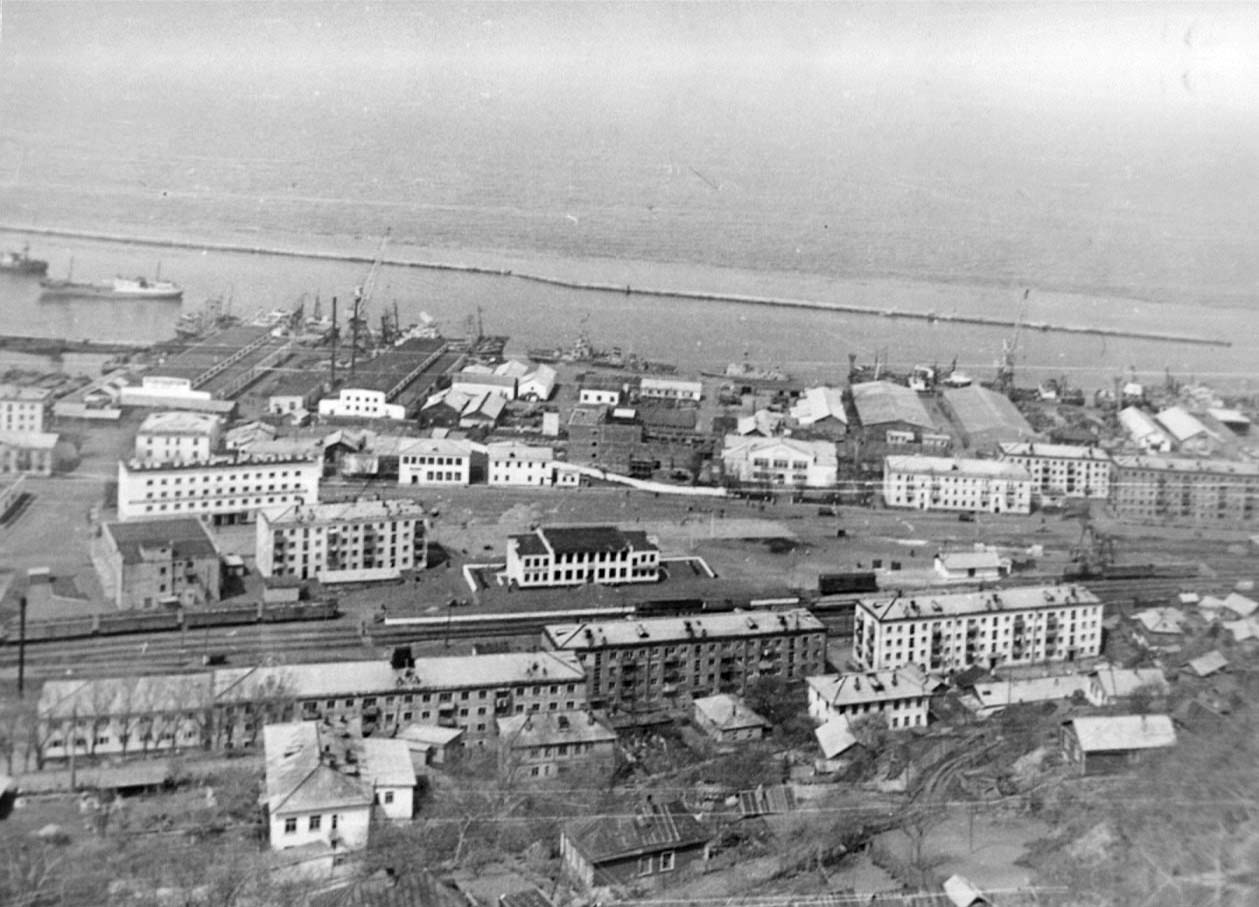Nevelsk. Panorama of the city, 80s