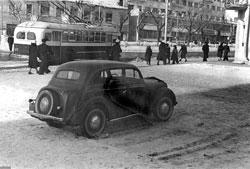 Novosibirsk. Crossroads of the Red Avenue and Sverdlov Street