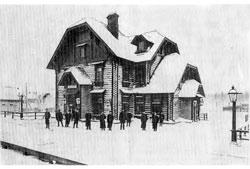 Nyandoma. Station building, 1913