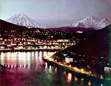 Petropavlovsk-Kamchatsky. Night city