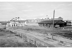 Petrozavodsk. Barracks, 1942