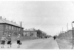 Poronaysk. Oktyabrskaya street, 1956