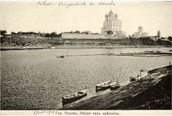 Pskov. Panorama of the fortress, 1900-1907