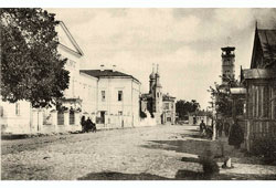 Ryazan. Panorama of the street, 1917