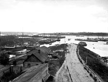 Rybinsk. The panorama of the Volga River