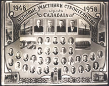 Salavat. Participants in the construction of the city