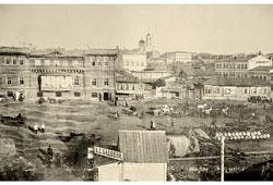 Samara. Between the streets of Panskaya and Bazarnaya, 1917