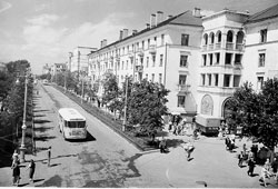 Saransk. Sovetskaya street, the end of the 60's