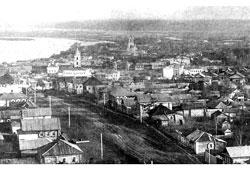 Sarapul. Panorama of city center