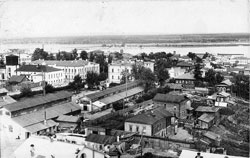 Sarapul. Panorama of city and Radio Works