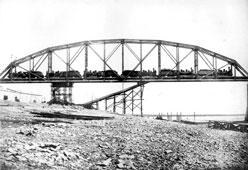 Svobodny. Testing of the 1st span, 1913