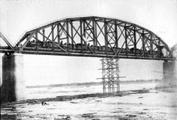 Svobodny. Testing of the 4st span, 1913