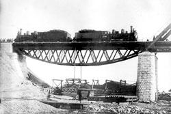 Svobodny. Испытания пролета моста