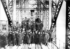Svobodny. Commission on the adoption of bridge, 1913