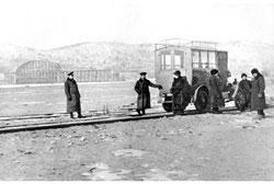Svobodny. Temporary crossing, 1913