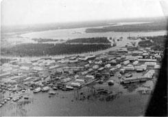 Tarko-Sale. The flood of the rivers Pyakupur and Ayvazedapur