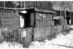Tynda. Unauthorized construction of housing