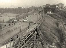 Tyumen. Wooden bridge, 1951