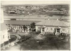 Tyumen. Yard of the Monastery, 1896