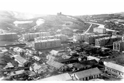 Uglegorsk. Panorama of the city, 1977