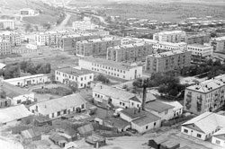 Uglegorsk. Panorama of the city, 80th years