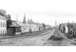 Uglich. Panorama of the city, 1895s